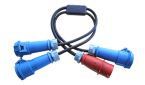 32A 3PH to 3 x 32A 1PH Y-Cord